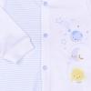 Souprava 2dílná - kabátek s planetkami a polodupačky DREAMS_S34028 (Barva & Vzor MODRÁ/BÍLÁ, Velikost 6 - 9 MĚSÍCŮ)
