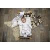 Overal kojenecký na zip se sluníčky a měsíčky DREAMS_S43952 (Barva & Vzor BÍLÁ/MODRÁ, Velikost 9 - 12 MĚSÍCŮ)