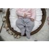 Overal dívčí s límečkem - růžovobílá kostička a šedý melír SMART_S57966 (Velikost 3 - 6 MĚSÍCŮ)