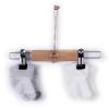 Sada 2 párů froté ponožek BASIC_S60898 (Barva & Vzor SMETANOVÁ/ŠIROKÉ ŠEDÉ PROUŽKY, Velikost 3 - 6 MĚSÍCŮ)
