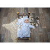 Overal pletený chlapecký s bílými hvězdičkami_S64223 (Velikost 9 - 12 MĚSÍCŮ)