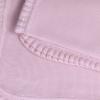 Deka pletená rubovým žerzejem s patentovým okrajem_S72945 (Barva & Vzor RŮŽOVÁ, Velikost 90 x 100 CM)