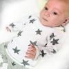 Dvoudílná chlapecká souprava - černé hvězdičky_S79517 (Velikost 2 - 3 ROKY)