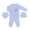 Souprava 4dílná mušelínová pro novorozence_S84245 (Barva & Vzor DÍVČÍ, Velikost 0 - 1 MĚSÍC)