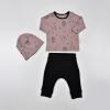 Souprava 3dílná - tepláčky, triko a čepička Mini Safari_S12036