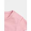 Tričko dívčí s krátkým rukávem - růžové květinky_S08008