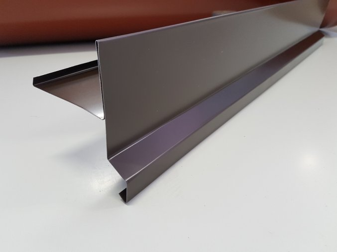 Závětrná lišta, pozink barva hnědá, r.š.330mm, délka 1 - 6 bm