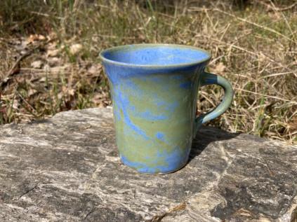 Hrnek ladný modro-zelený