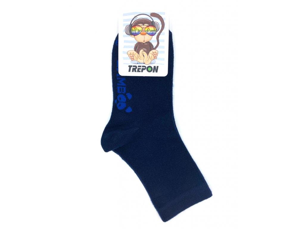 Tmavě modré bambusové ponožky Trepon BOBIK