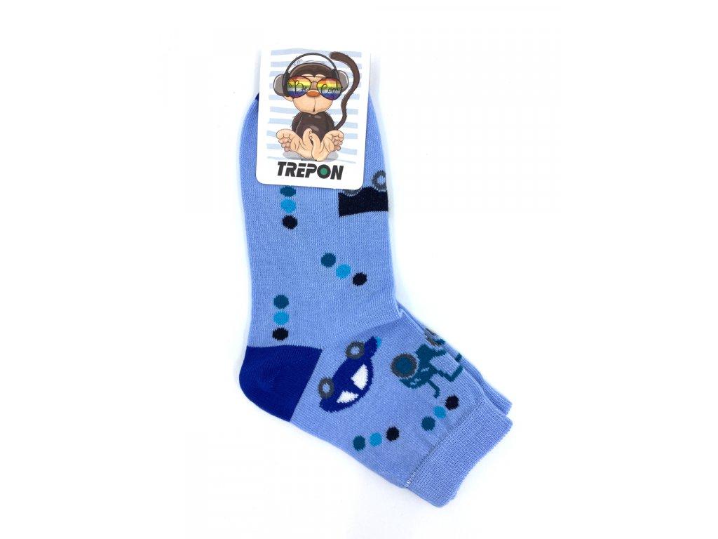 Bavlněné ponožky Trepon TOBIK modré