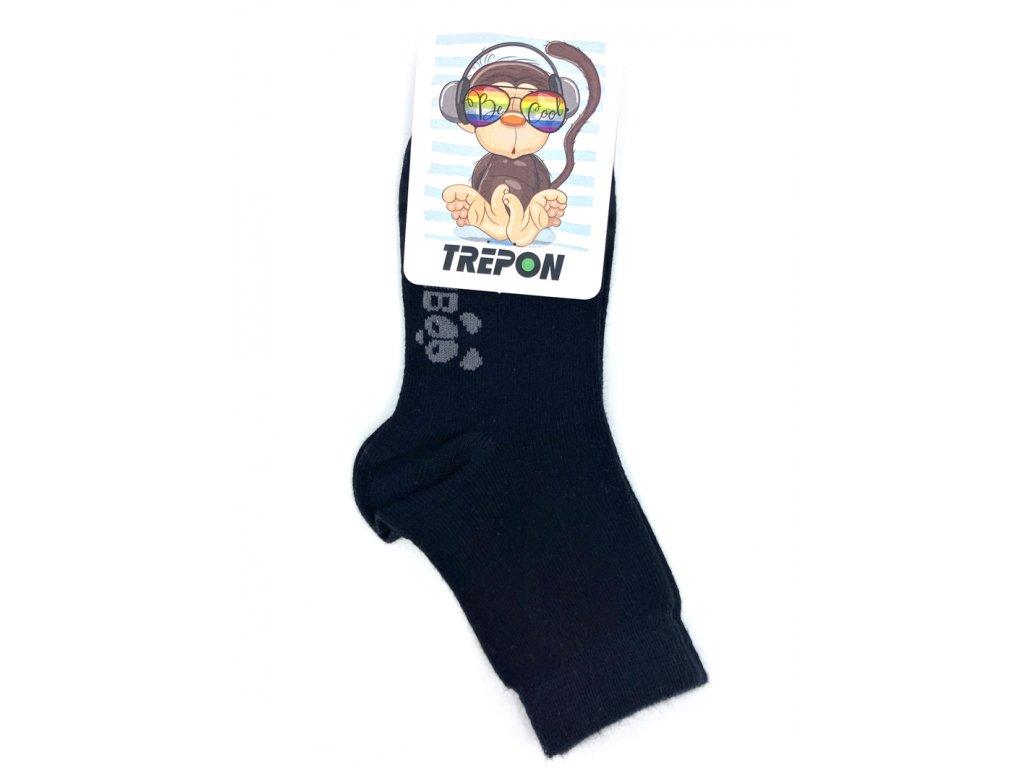 Černé bambusové ponožky Trepon BOBIK