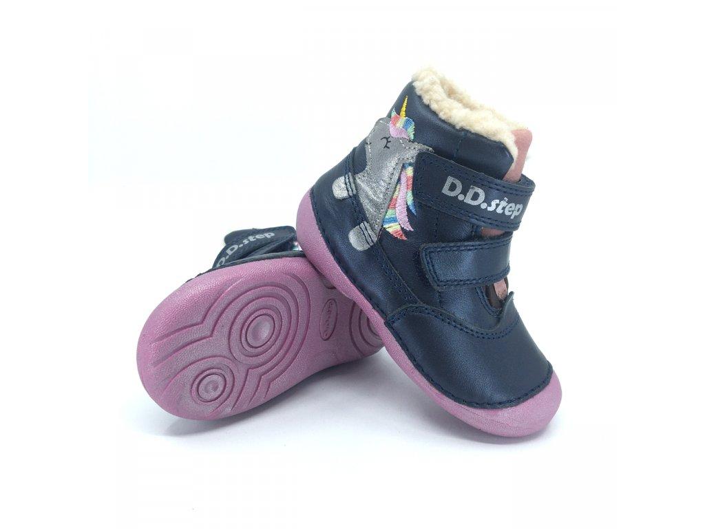 Zimní boty DD Step 015-968 Royal blue