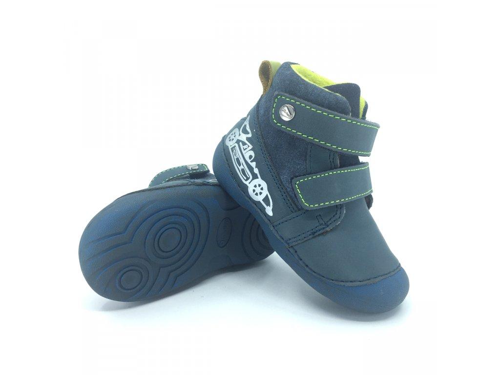 zimní boty Dětské kotníkové zimní boty D.D. Step 015-401