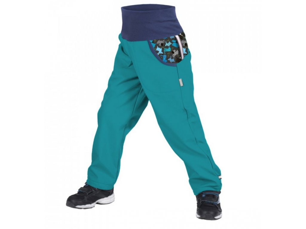 Screenshot 2020 10 08 Unuo, Dětské softshellové kalhoty s fleecem, Sv Smaragdová, Pejsci www unuo cz