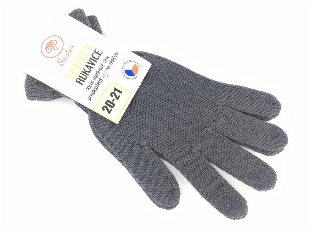 merino rukavice surtex šedé