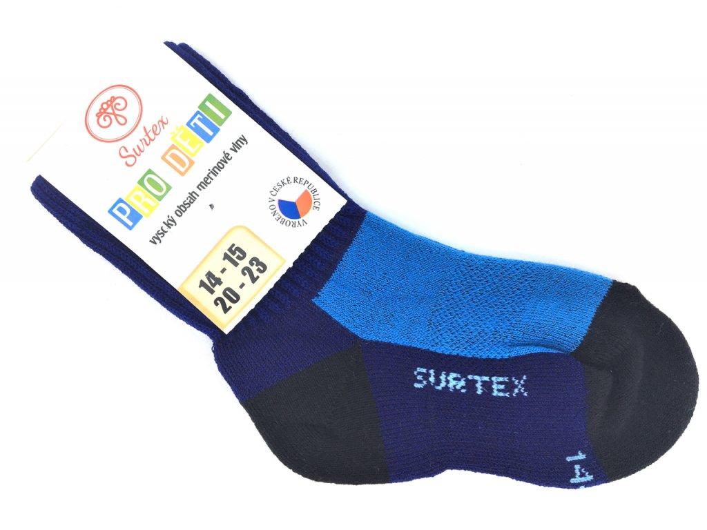 Ponožky Surtex zima Merino modré