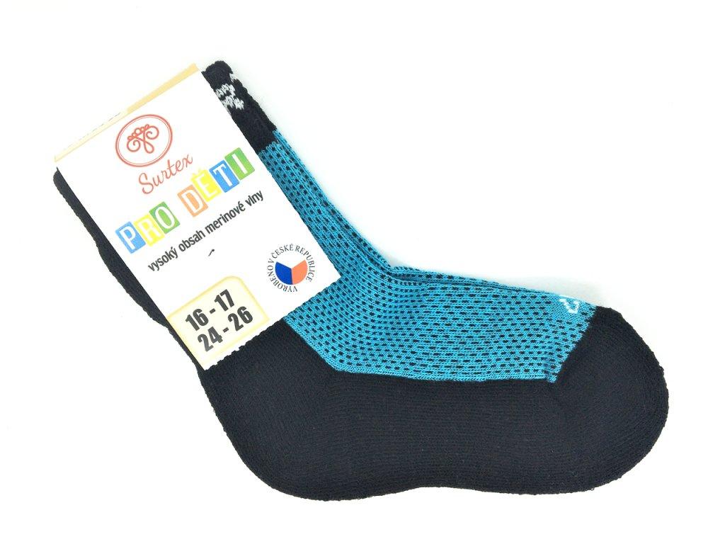 Ponožky Surtex podzim Merino modre