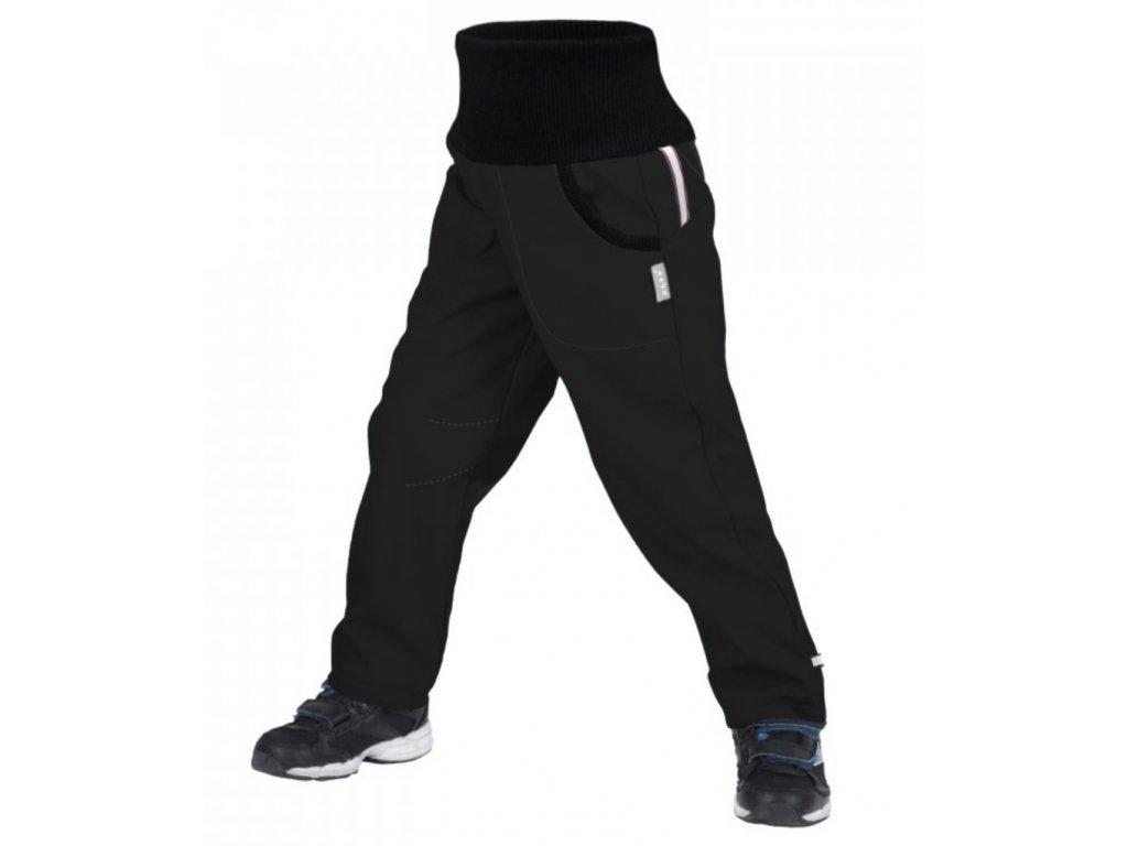 UNUO Softshellové kalhoty s fleecem STREET černé