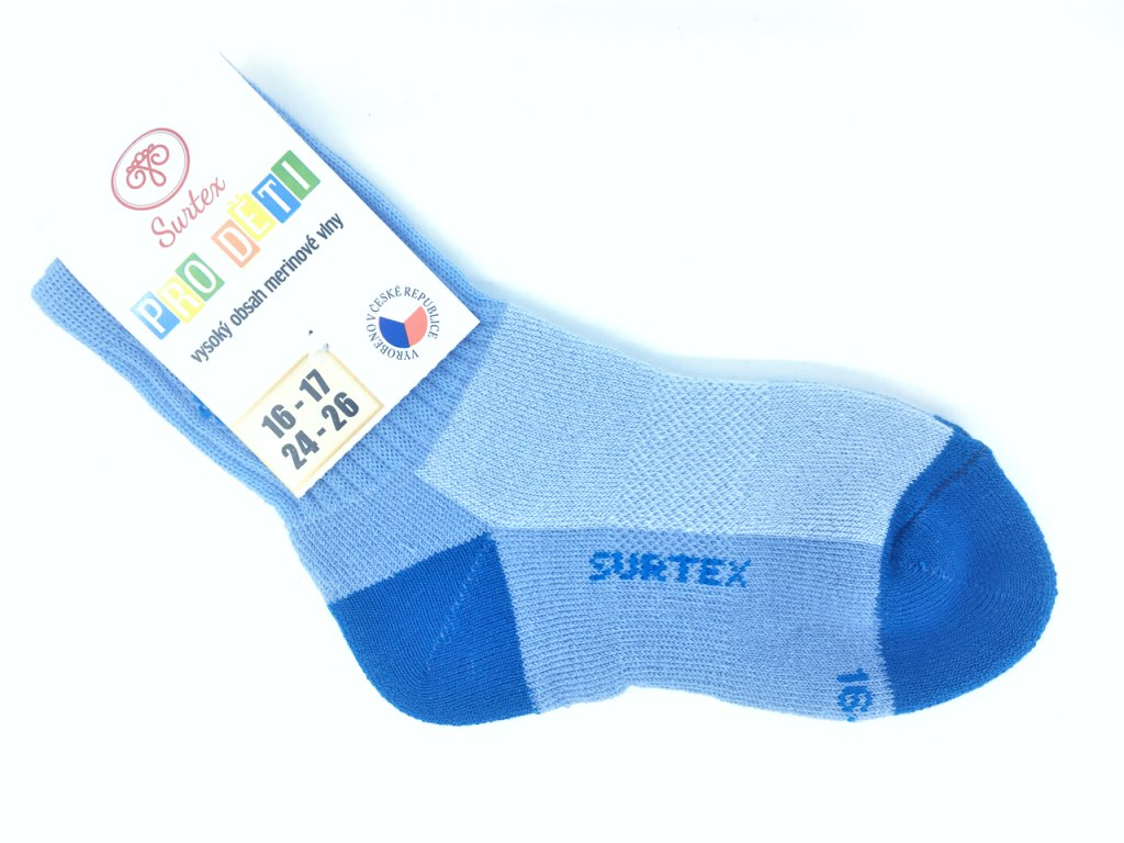 Ponožky Surtex svetle modre merino