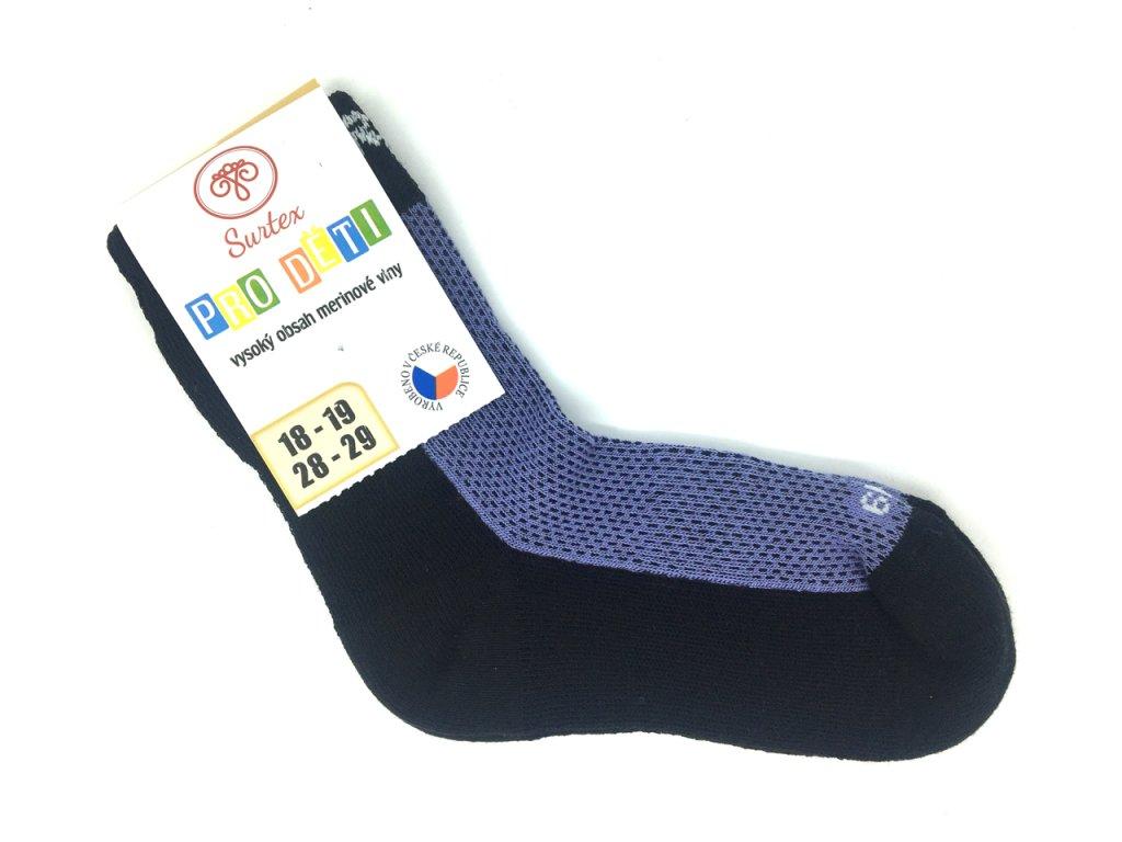 Merino ponožky Surtex fialové