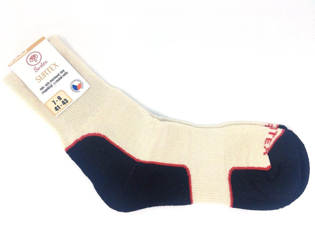 ponožky Surtex volný lem merino bílá