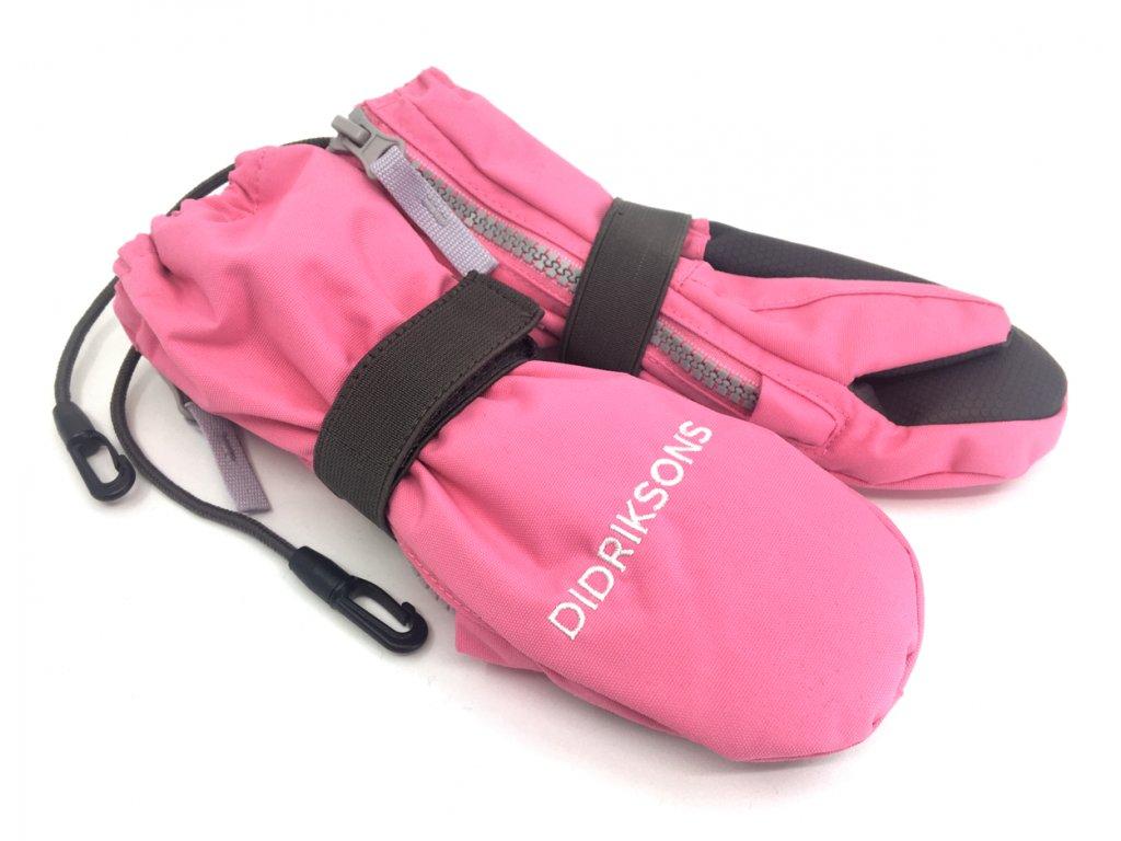 Dětské celorozepínací rukavice Didriksons Biggles Zip palčáky světle růžové