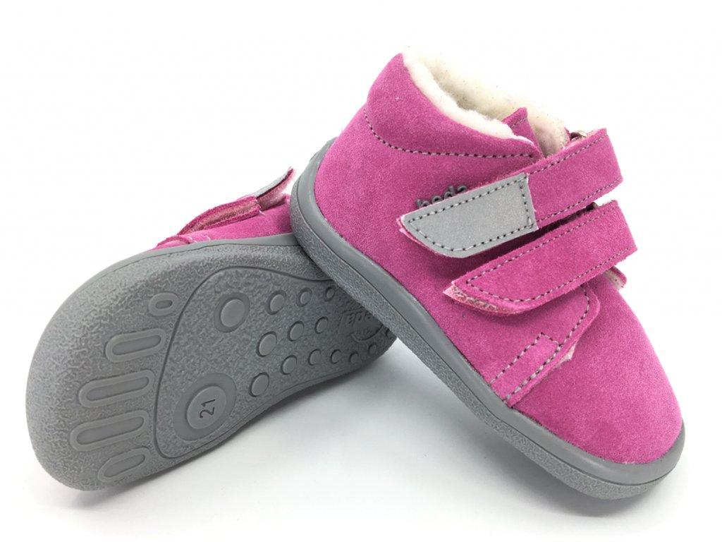 Zimní barefoot boty Beda Rebecca s membránou te por
