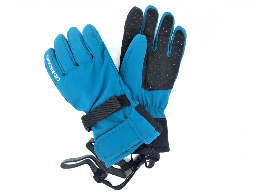 Dětské lyžařské prstové rukavice Didriksons Five modré