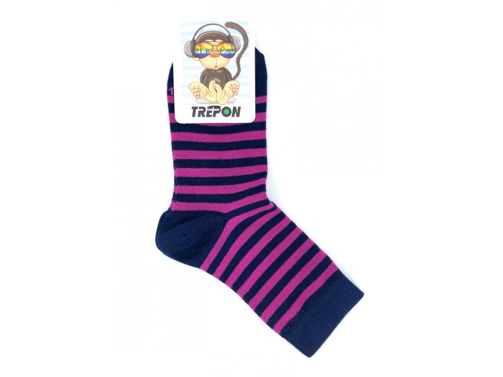 Bambusové ponožky Trepon BABAR fuchsiové