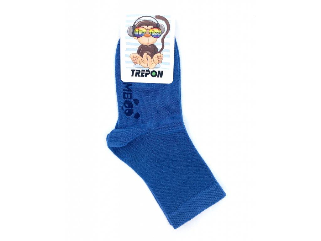 Jeansové bambusové ponožky Trepon BOBIK