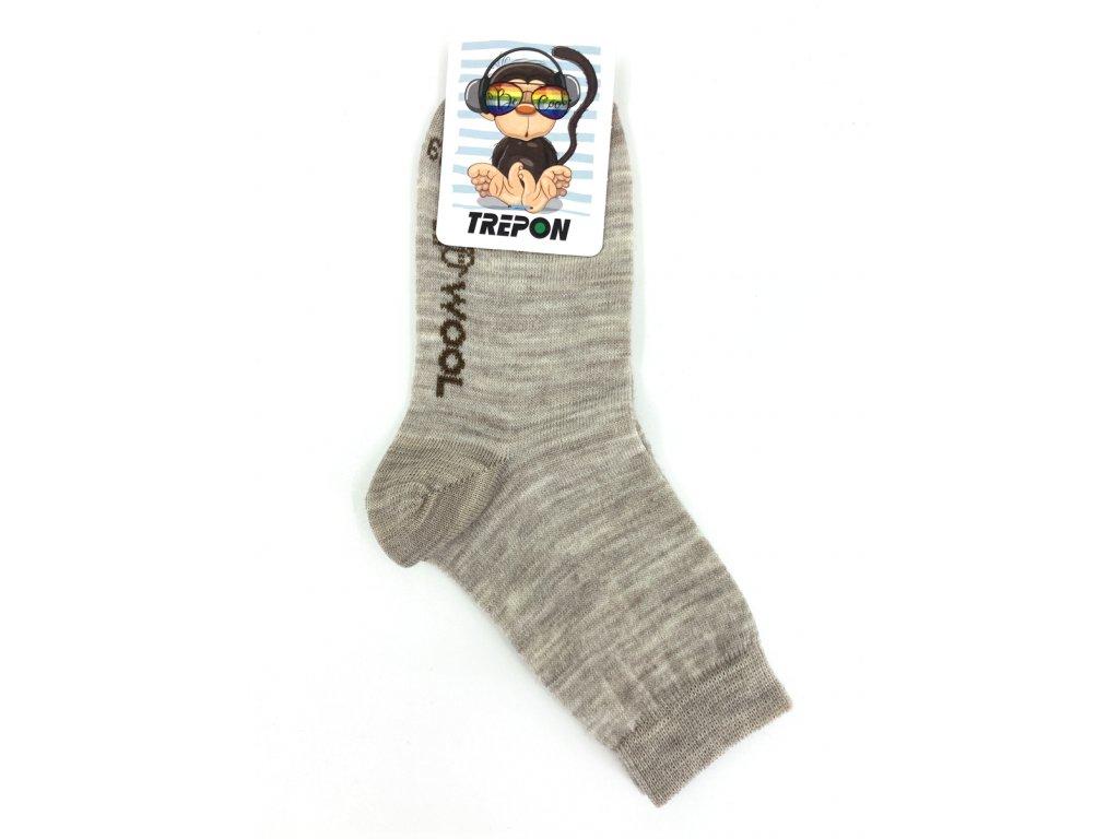 Dětské vlněné ponožky Trepon Vlnka