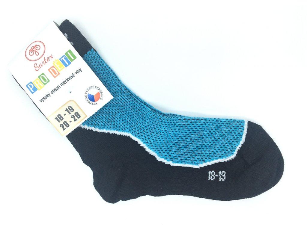 Letní 50 merino ponožky tyrkysové