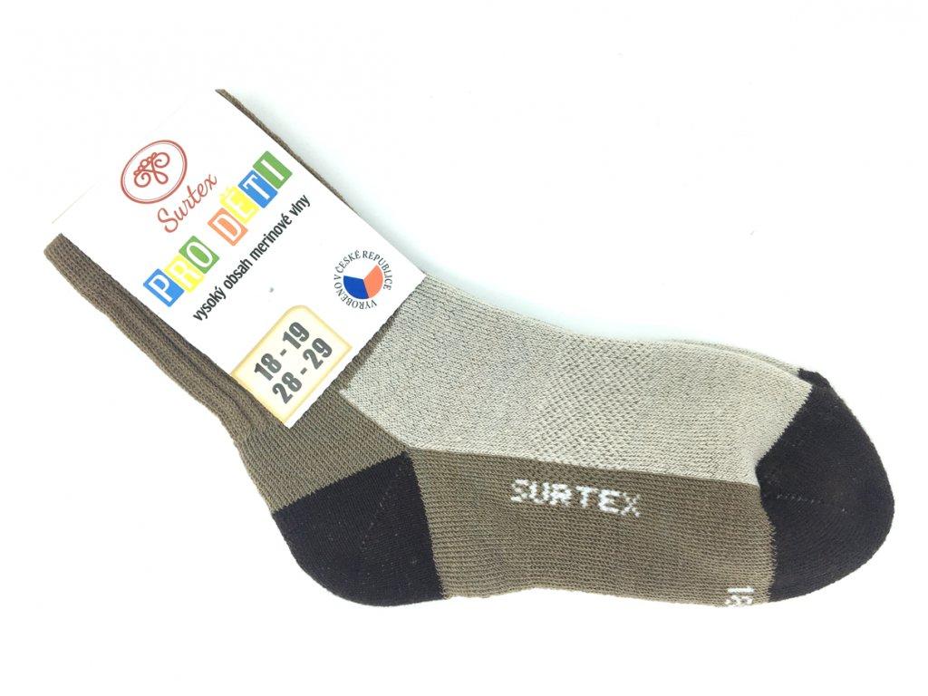 Dětské béžové merino ponožky Surtex