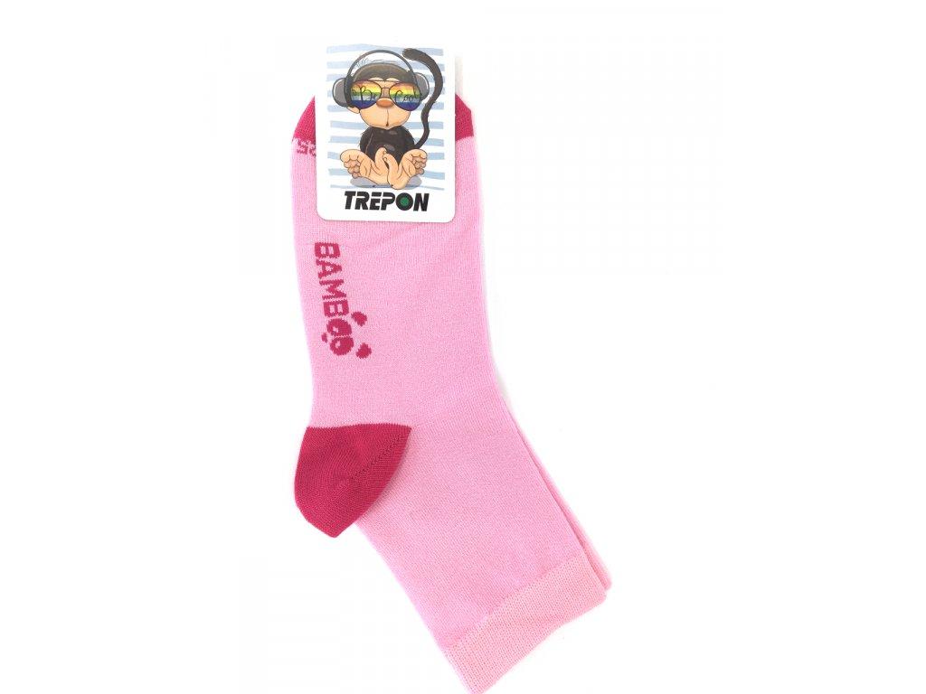 bambusové ponožky Trepon růžová