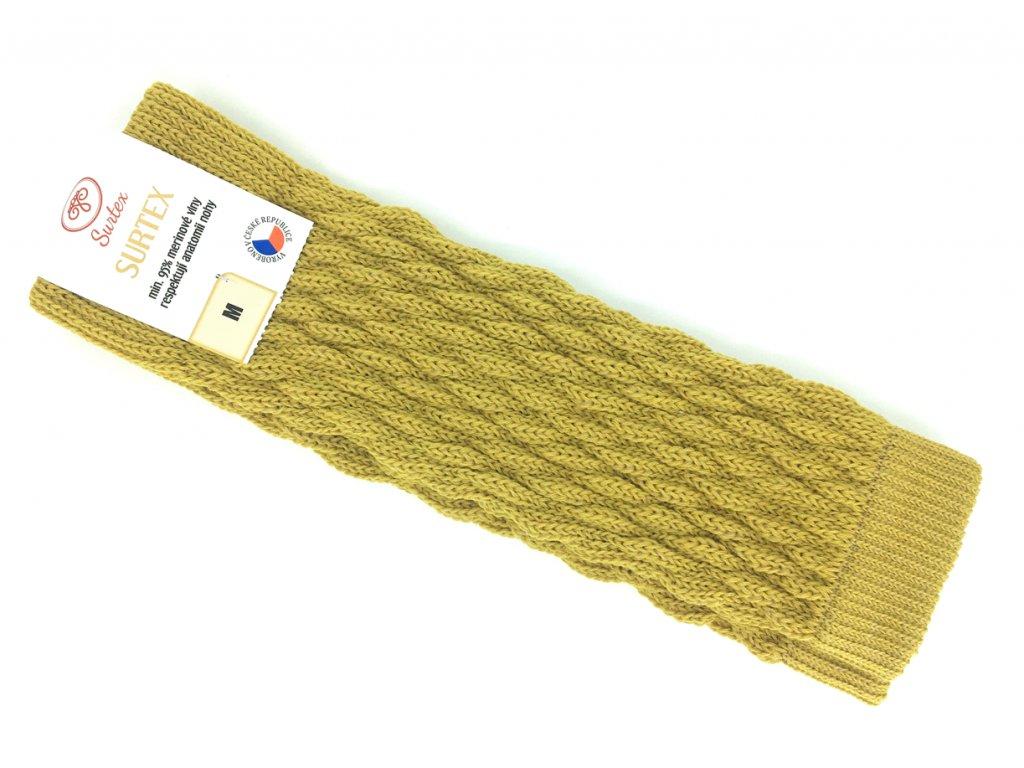 žluté merino návleky Surtex