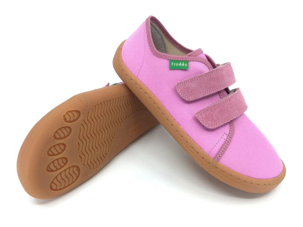Barefoot tenisky Froddo Pink textilní G1700283