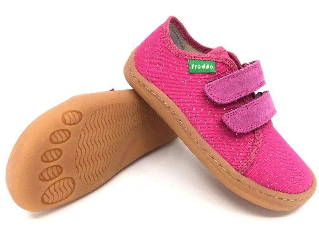 Barefoot tenisky Froddo Fuchsia textilní G1700283 3