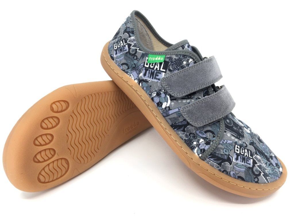 Barefoot tenisky Froddo Grey textilní G1700283 7