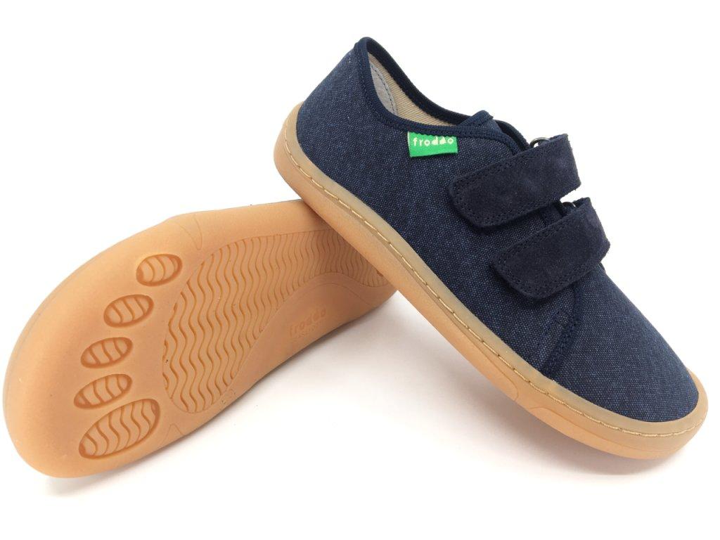 Barefoot tenisky Froddo Dark Blue textilní G1700283 8