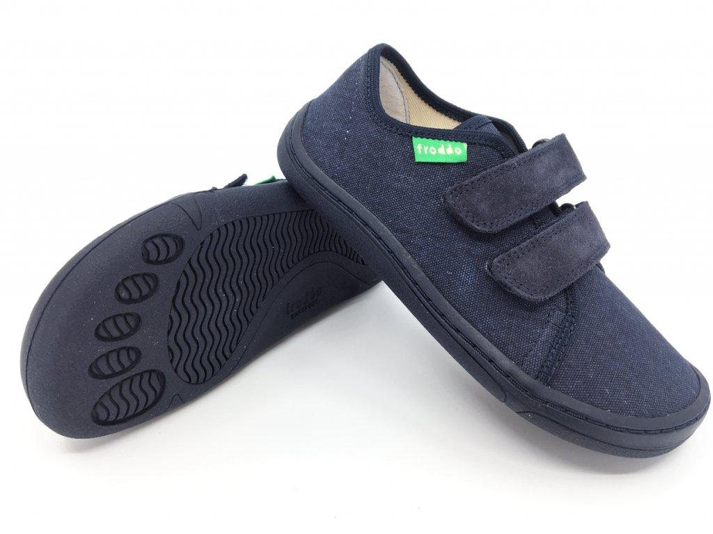 Barefoot tenisky Froddo Dark Blue+ textilní G1700283 5