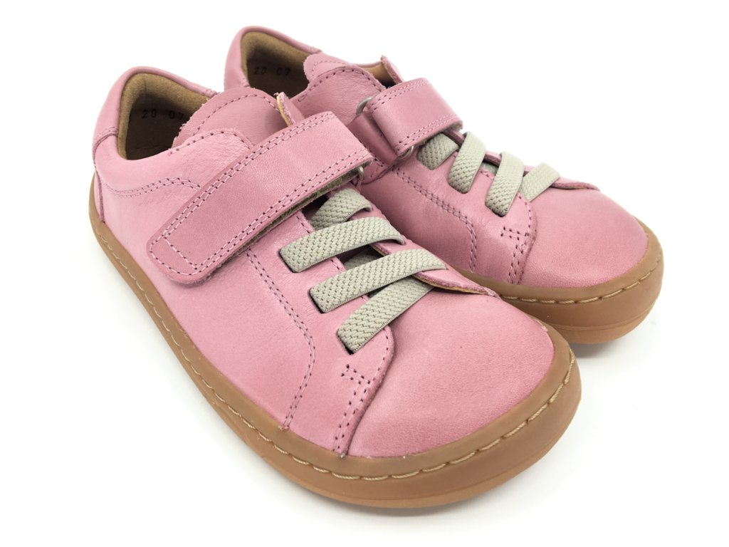 Barefoot tenisky Froddo Pink kožené G3130175 6