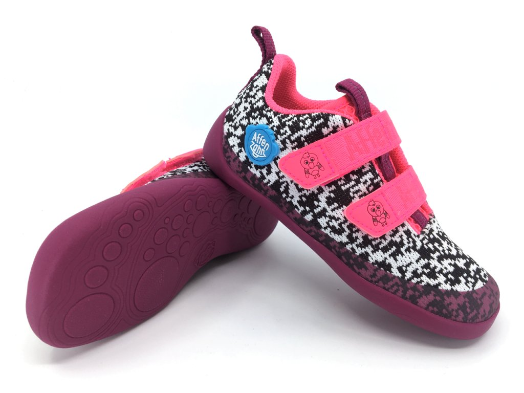 tenisky Barefoot Affenzahn Lowcut Knit Flamingo