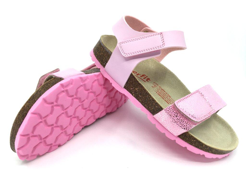 Zdravotní korkové sandále Superfit Tecno Rosa 1 000123 5000