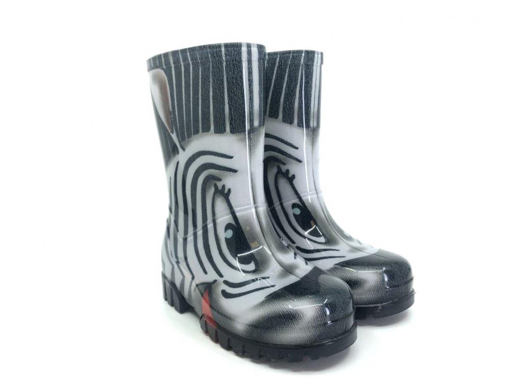 dětské gumáky demar twister print zebra