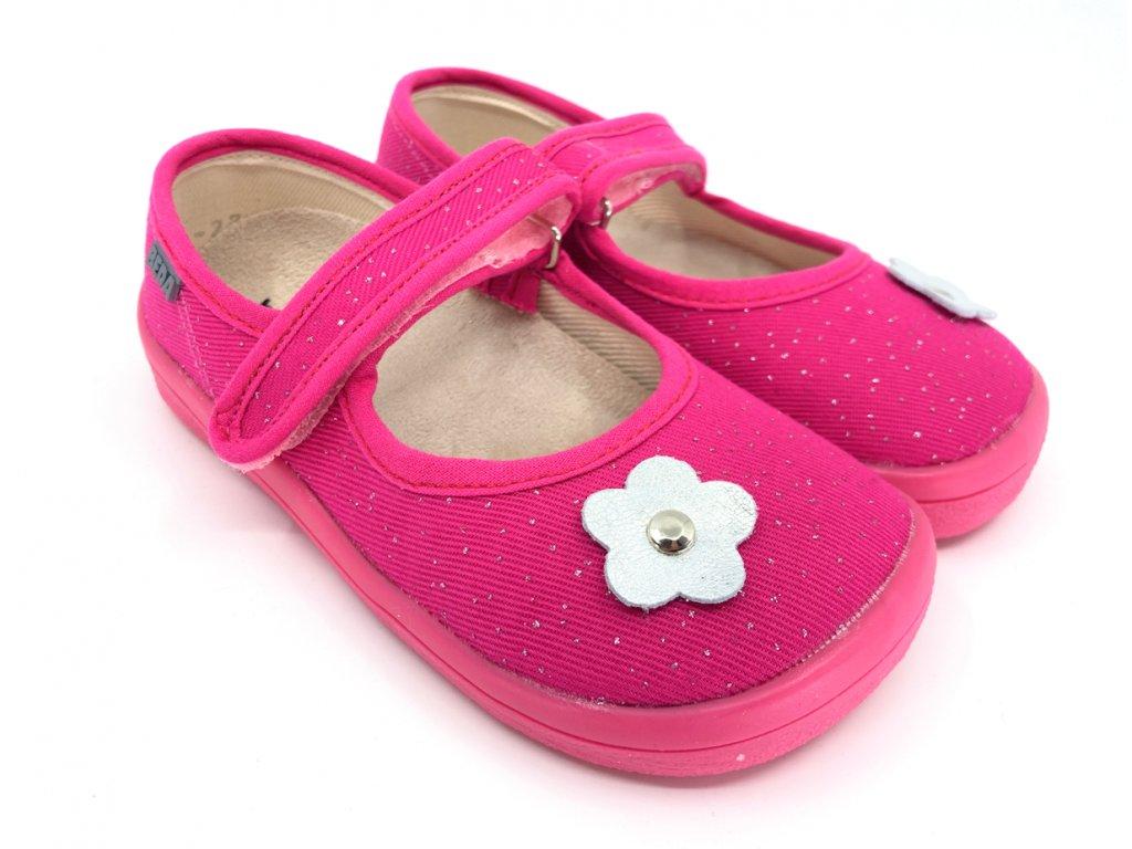 Barefoot balerínky Beda Pink Shine BF 0001BA