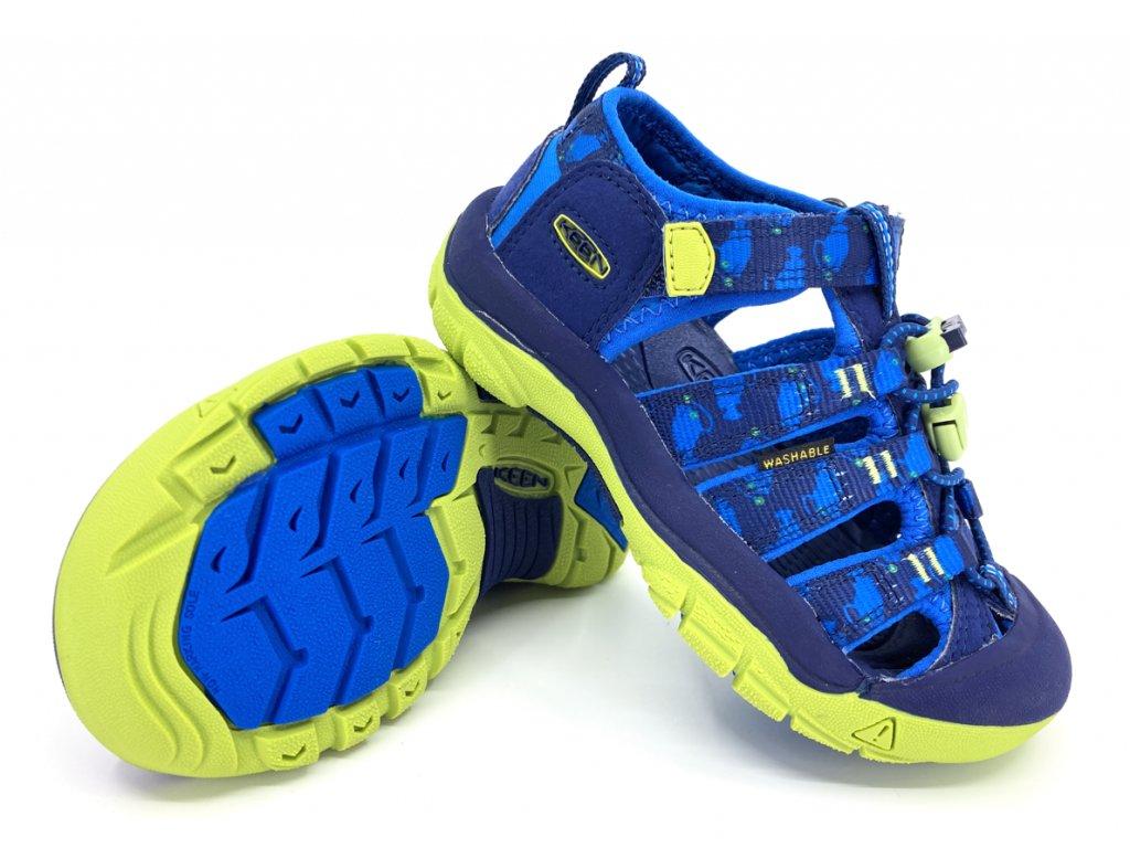 dětské sandále Keen Newport H2 Blue Depths Chartreuse