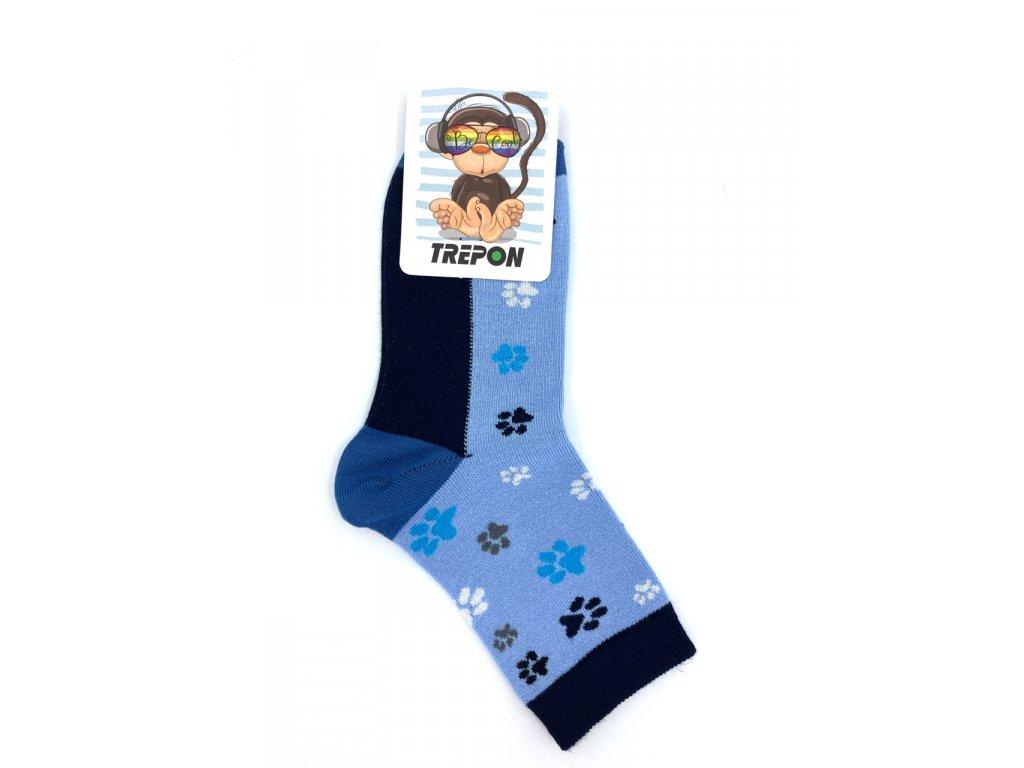 Bambusové ponožky Trepon Stopík modrá