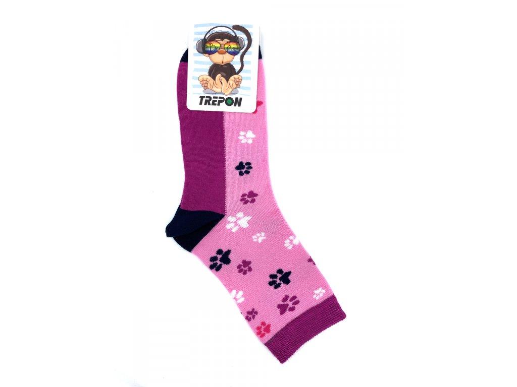Bambusové ponožky Trepon Stopík růžová