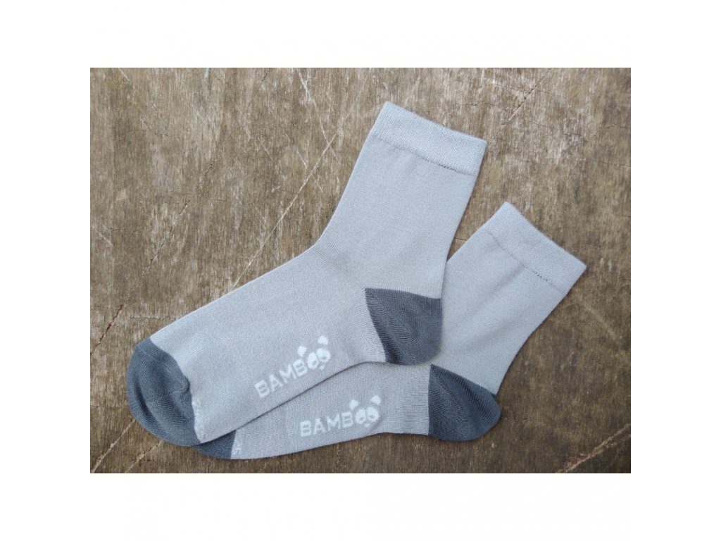 dětské bambusové ponožky Trepon hugo šedé