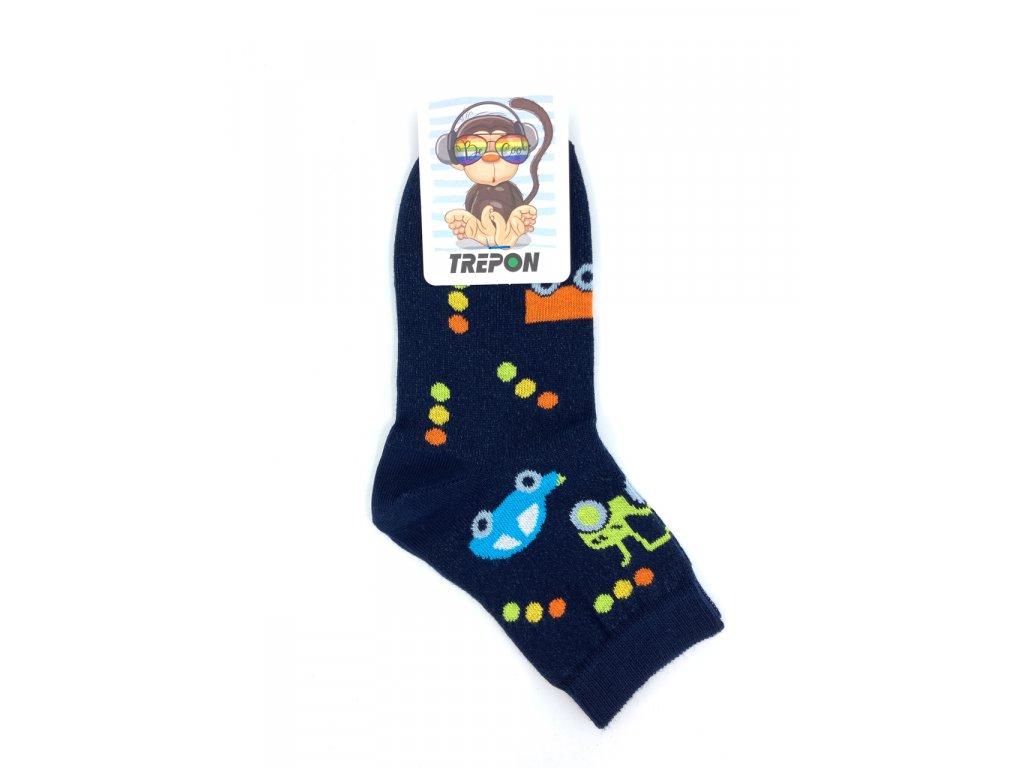 Bavlněné ponožky Trepon TOBIK tmavě modré